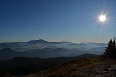 mountain sun (Mangiafuoco-photography (on vacation and off for a) Tags: blue summer sky panorama sun mountain mountains alps berg fog nikon nebel himmel bluesky berge alpen sunrays sonnenstrahlen gipfel unterberg mountainpanorama nikond5100