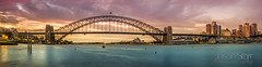 Harbour Bridge and Opera House at Sunrise - Panorama 1 (jasoncstarr) Tags: longexposure bridge panorama seascape skyline architecture clouds sunrise canon landscape sydney sigma panoramic cbd operahouse harbourbridge sydneyoperahouse sydneyharbourbridge bluespointreserve mcmahonspoint sydneycove 2470mm ndfilter 60d canoneos60d mygearandme mygearandmepremium sigma2470mmexdgmacrolens