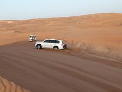 Desert Safari (praja38) Tags: sun hot nature car port landscapes sand dubai desert jeep dunes air sandy dune uae tire safari sanddune unitedarabemirates
