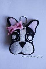 chaveiro Frenchie (ovelhanegra_toys) Tags: handmade artesanato felt feltro artes fieltro toyart feitoamo ovelhanegratoys