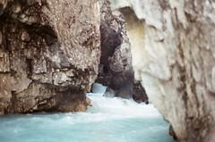 Bow River (Grace Gockel) Tags: park summer canada mountains film analog vintage olympus national banff analogue om1n