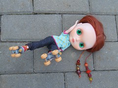 Mushka is trying to skate ;)