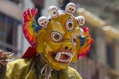 Yellow Skeleton - Tsechu Hemis - Sylvain Brajeul  (Sylvain Brajeul) Tags: voyage travel india color festival dance asia mask buddhist monk buddhism danse monastery asie himalaya ladakh monastre 2012 inde gompa tsechu hemis southasia moine bouddhiste bouddhism sylvainbrajeul