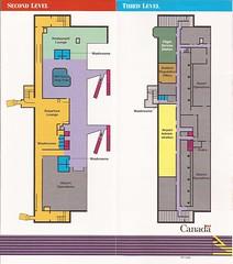 YQTguide1994 03 (By Air, Land and Sea) Tags: airport canada ontario thunderbay thunderbayairport yqt map terminal diagram layout
