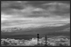 Pylons (Zelda Wynn) Tags: weather blackwhite skies scenic auckland artgalleryofnsw cloudscape troposphere inspiredbyalfredstieglitz nationalpowergrid zeldawynnphotography