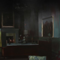 The painting hanged on the wall (2013)