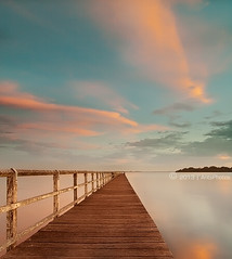 L o s t I n C y c l e s (AnthonyGinmanPhotography) Tags: sunset berkeley jetty wollongong lakeillawarra leefilters olympuse620 olympus1122mmf28 tuggerahjetty
