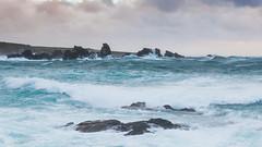 Tempête sur la presqu'ile Saint Laurent (Teaspoon29) Tags: ocean sea mer lighthouse seascape france rock landscape coast brittany novembre waves bretagne cote tempest paysage vagues rocher finistère tempete porspoder 2013 penarbed argentonenlandunvez nikkor1635