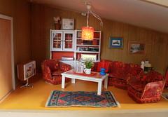 Cosy light... (*blythe-berlin*) Tags: orange vintage göteborg toys dolls furniture gothenburg 70s möbel byebye spielzeug dollhouse caco jahre puppenhaus lundby 70ziger biegepuppen doll´shouse