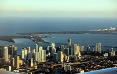 Downtown Miami, Florida, and Virginia Key from the air (Paul McClure DC) Tags: architecture scenery florida miami fromtheair keybiscayne miamidadecounty oct2013