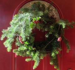 Xmas wreath 2013 (Peace Lvr) Tags: christmas xmas sumac holly wreath evergreen 2013