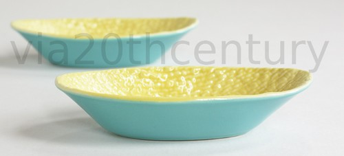 Cute blue and yellow finger bowls