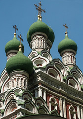 Trinity Church, XVII cen. Moscow (Tiigra) Tags: 2002 moscow russia architecture church city column dome spire pattern