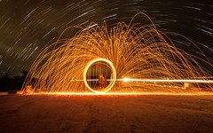 Steel In Star (Manyund Photography) Tags: night digital indonesia fire star long exposure shoot trails imaging steelwool sangatta canoneos50d