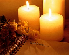 Sweet dreams........ (Jolynn's Photography) Tags: roses texture notebook candles dreams