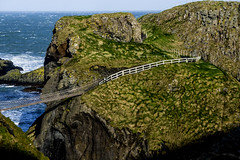 Carrick-a-Rede rope bridge (Bruno Peralta G.) Tags: uk ireland sony belfast northern elm rede photographing carrick craic