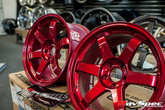 """VOLK Racing TE37SL 18x9.5 +22 Hyper Red • <a style=""""font-size:0.8em;"""" href=""""http://www.flickr.com/photos/64399356@N08/12913742165/"""" target=""""_blank"""">View on Flickr</a>"""