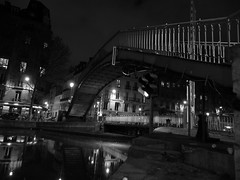 Paris, Quai de Jemmapes (Jay Deuzieux Photography) Tags: light bw white black paris france reflection wet water night eau noir reflet lumiere nuit blanc quai 75000 jemmapes