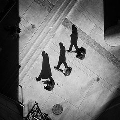 三人行 (. Jianwei .) Tags: street light urban 3 vancouver three shadows sony costco 影子 topview 人 2014 kemily stealingshadows nex6