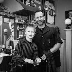 100 Strangers Project #72 Claudio (BunnySafari) Tags: bw spring guelph darwin barbershop ritual claudio 72 2014 yashicamat124g fpp lenshood kodak400tmax 100strangerproject 100strangersproject72 francosbarbershop