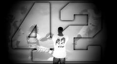 Today we all wear 42 (* NightHawk24 *) Tags: model respect baseball 1st honor sl secondlife virtual 42 jackierobinson denzel denz virtualworlds 2df stealinghome