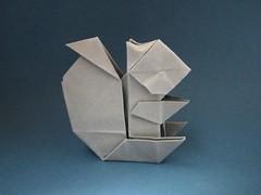 squirrel - Ryo Aoki (Rui.Roda) Tags: origami papiroflexia papierfalten esquilo ardilla écureuil squirrel ryo aoki