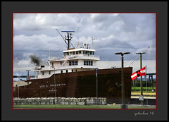 Big One in the Locks (the Gallopping Geezer '4.4' million + views....) Tags: cks soolocks water change raise lower ship ships boat adjust adjustment height freighter freight tour tourist passenger youcantgoaround saultstmarie mi michigan upperpeninsula up northernmichigan upnorth smalltown backroads backroad greatlakes greatlake lakesuperior roadtrip canon 5d3 tamron 28300 geezer 2016