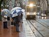 MAXUmbrellasPortlandOR3-15-17 (railohio) Tags: trimet max trains portland oregon v3 031517 lightrail umbrella siemens sd600 rain