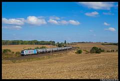 VTG Rail 186 145, Ovelgünne 18-09-2016 (Henk Zwoferink) Tags: ovelgünne sachsenanhalt duitsland de daniela kneertzenberger vtg rail henk zwoferink railpool bombardier traxx 186 145