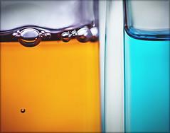 His & Hers (krheesy) Tags: macromondays aftershave bathgel bubbles her his liquid orangeandblue