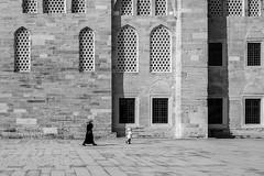 black and white / small steps big windows (Özgür Gürgey) Tags: 2017 35mm bw d750 edirnekapı mihrimahsultan nikon samyang architecture candid highkey mosque istanbul turkey