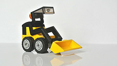 Skid-steer loader (a small Lego toy) (hajdekr) Tags: loader skidsteerloader lego vehicle mobile wheels simple basic easy toy skidsteer skidsteering bobcat skidloader micro microscale microspace wheel