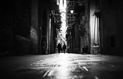 After the rain... again ! (elgunto) Tags: streetphotography street barcelona elborn people silhouettes low rain highcontrast blackwhite bw sonya7 sonyfe55mm18