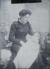 Mrs Roach (EastMarple1) Tags: glass plate roach woman baby vintage wscater