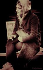 Woman (MarLo-Artwork) Tags: woman frau a37 alpha artwork art amazing awesome artistic bayern bavaria beauty charakter creative deutschland girl interesting jung kreativ monochrome munic nachbearbeitung sony portrait unknown marlo