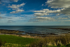 North Sea (Brian Travelling) Tags: seasons spring fluffyclouds bluesky clouds green grass landscape seascape water northsea england pentaxkr pentax pentaxdal serene