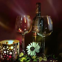 romantische Stimmung (Lutz.L) Tags: wein glas licht kerze romantik