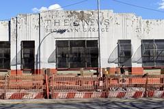The News (-»james•stave«-) Tags: newyork nyc brooklyn news city urban street gowanus boerumhill building architecture garage facade wall surface peeling shadows dailynews cameralogo brooklynboulders 3rdavenue nikon d5300