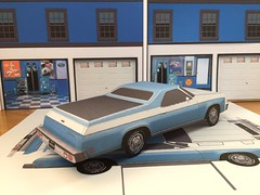 papercraft 1976 Chevrolet El Camino (official inspection station) Tags: chevrolet elcamino 1976 papercraft papertoy papercar
