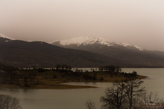 Lake Plastiras view.. (ckollias) Tags: beautyinnature day lake lakeplastiras landscape limniplastira mountain mountainpeak mountainrange nature nopeople outdoors plastiralake sky snow water