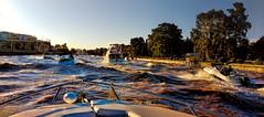 En la vuelta a casa (Miradortigre) Tags: boat barco lancha river rio lujan tigre delta argentina atardecer sunset
