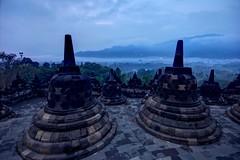 Borobudur cloudy sunrise (Jhaví) Tags: borobudur temple java indonesia asia southestasia buddhist unesco worldheritage yogyakarta