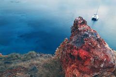 Color contrast (Robyn Hooz (away)) Tags: vulcano eolie islands isole sicilia azzurro blue blu mare zolfo sulphur rocks rocce boat estate summer