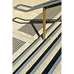 (SteffenTuck) Tags: exterior urbanlandscape stairs handrail shadows diagonal pattern lines steffentuck brisbane australia graphic dots patterning urban architecture ground footpath texture
