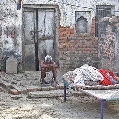 The luxury of despair ~ India (~mimo~) Tags: asia portrait man streetphotography jaunpur people travel india photography streets documentary