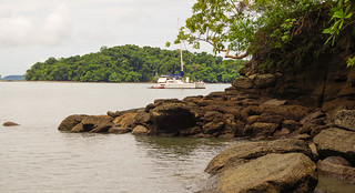 The Panamanian coastline