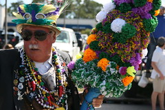 Bedecked in Color (FilmandFocusPhoto) Tags: canon sigma 1750 1750mm outdoors outdoor naturallight availablelight sunlight daylight sunshine mardigras mardi gras flowers parade nereids sunglasses green gold purple celebration carnival fun photoshopfree noprocessing untouched unedited noedit unaltered
