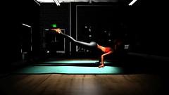 Finding my balance (Myra Wildmist) Tags: secondlife sl myrawildmist virtualart virtualphotography yoga studio shadow dark