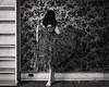 Patterns in the Sound (sadandbeautiful (Sarah)) Tags: me woman female self selfportrait abandoned bw dress wallpaper house