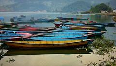 NEPAL, In Pokhara, Schlechtes Wetter am Phewa-See, Boote  16059/8322 (roba66) Tags: phewalakefewalake lakesee reisen travel explore voyages roba66 visit urlaub nepal asien asia südasien pokhara landschaft landscape paisaje nature natur naturalezza boot boat ship water wasser